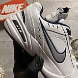 Кроссовки Nike Air Monarch White Blue Найк Эир Монарх Кожа Белый 🔥 Найк мужские кроссовки 🔥, фото 7