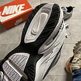 Кроссовки Nike Air Monarch White Blue Найк Эир Монарх Кожа Белый 🔥 Найк мужские кроссовки 🔥, фото 6