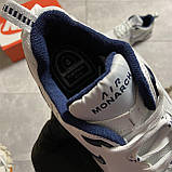 Кроссовки Nike Air Monarch White Blue Найк Эир Монарх Кожа Белый 🔥 Найк мужские кроссовки 🔥, фото 8
