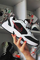 Кроссовки Nike Air Monarch IV Black White Найк Эир Монарх Кожа Белый 🔥 Найк мужские кроссовки 🔥