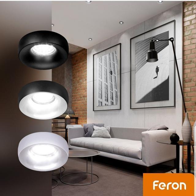 фото в интерьере Встраиваемый светильник Feron DL1842 под лампу GU5.3 Белый матовый (без ламп)