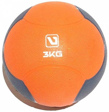 Медбол LiveUp Medicine 21.6 см 3 кг Orange-Grey (LS3006F-3), фото 2