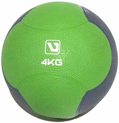 Медбол LiveUp Medicine 21.6 см 4 кг Green-Grey (LS3006F-4), фото 2
