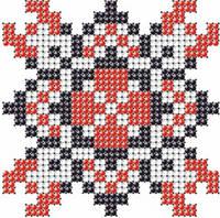 Схема на ткани для вышивания бисером Галина - имя закадированное в вышиванке КМР 7120