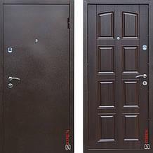 Дверь входная металлическая Sagan Model 112, Optima, Fuaro, Металл / Темный орех, 950х2050, левая