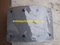 Накладка тормозная Зил 130 задняя, сверлённая (производитель Дорожная карта)