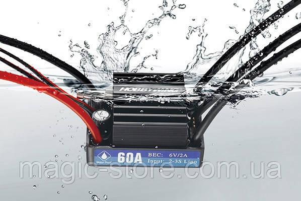Бесколлекторный регулятор хода HOBBYWING SEAKING 60A V3 2-3S для судомоделей