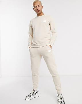 Спортивный костюм мужской New Balance (Нью Беленс) Бежевый, фото 2