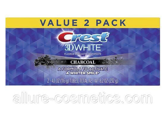 Зубная паста 2шт. Crest Charcoal Whitening Toothpaste 2х 116гр (232гр)