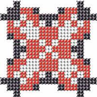 Схема на ткани для вышивания бисером Анна (Ганна) - имя закадированное в вышиванке КМР 7121