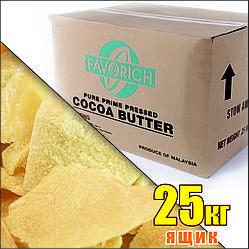 Какао-масло натуральне, Favorich, Індонезія (ящик 25кг)