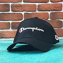 Кепка бейсболка Champion с биркам (черная)