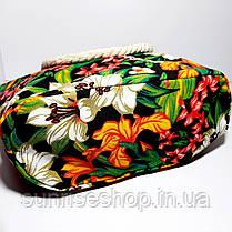 Пляжна текстильна літня сумка для пляжу і прогулянок, фото 3
