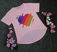 Стильна футболка на дівчинку на ріст 128-176