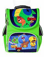 Ранец школьный каркасный рюкзак детский ортопедический Бравл Старс Леон Эль Примо Карл