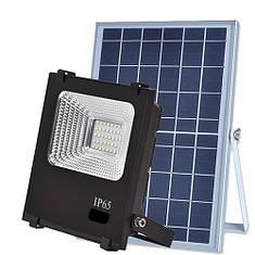 LED прожектор на солнечных панелях VARGO 25W 6500К с пультом, фото 2