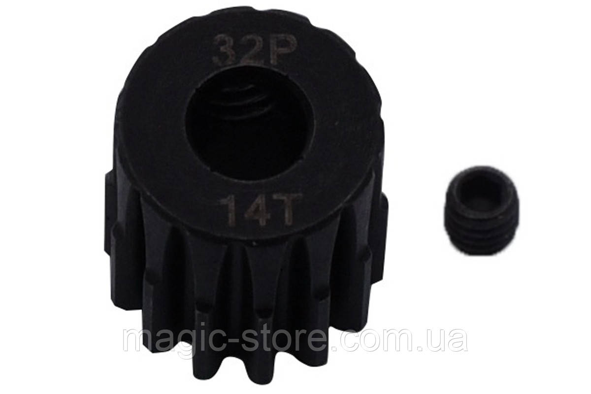 Пиньон стальной RCTurn M0.8 32 Pitch под вал 5мм (14T)