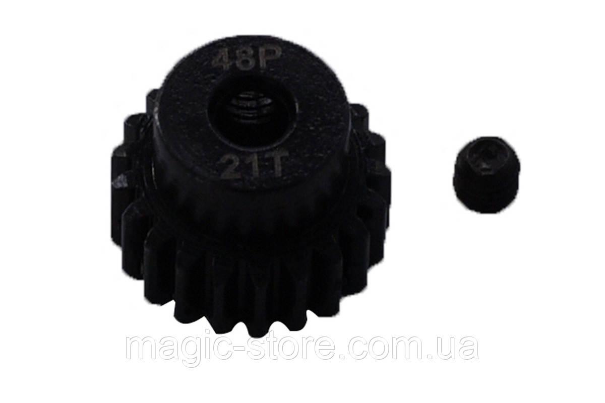 Пиньон стальной RCTurn M0.5 48 Pitch под вал 3.175мм (21T)