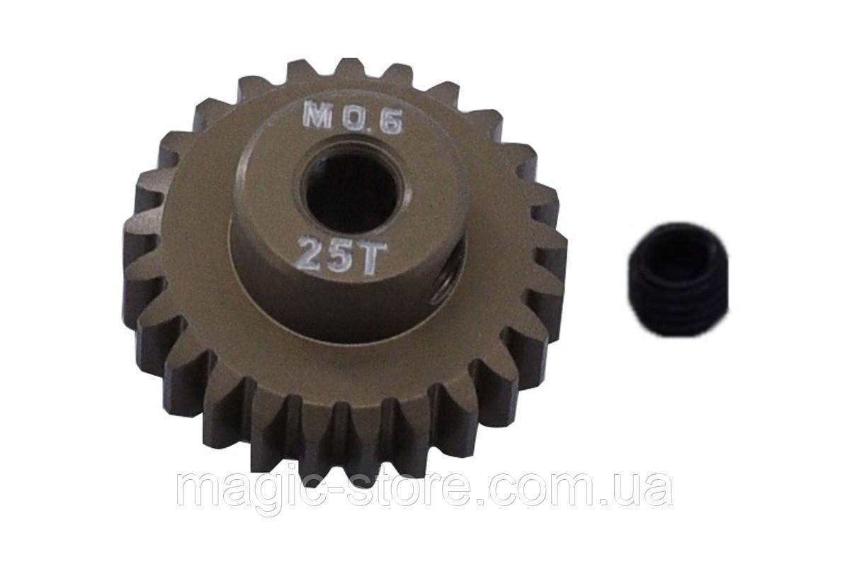 Пиньон алюминиевый RCTurn M0.6 48 Pitch под вал 3.175мм (25T)