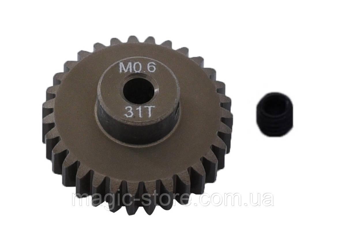 Пиньон алюминиевый RCTurn M0.6 48 Pitch под вал 3.175мм (31T)