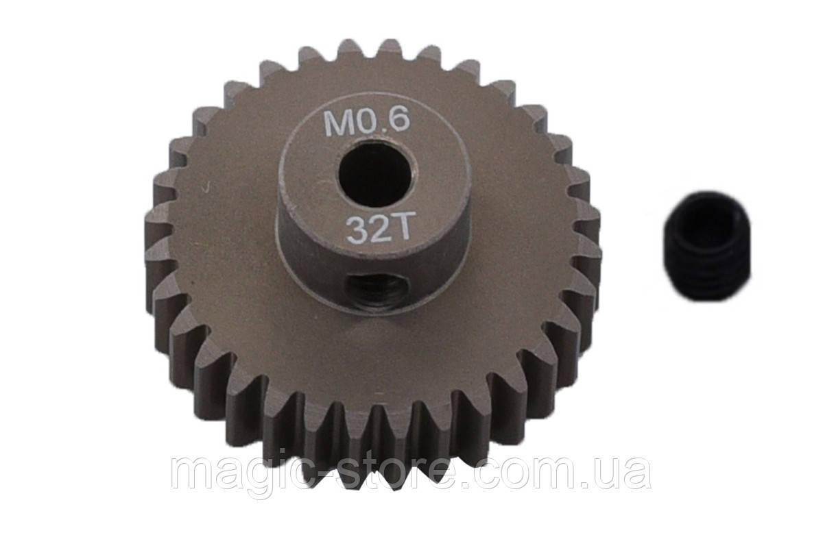 Пиньон алюминиевый RCTurn M0.6 48 Pitch под вал 3.175мм (32T)