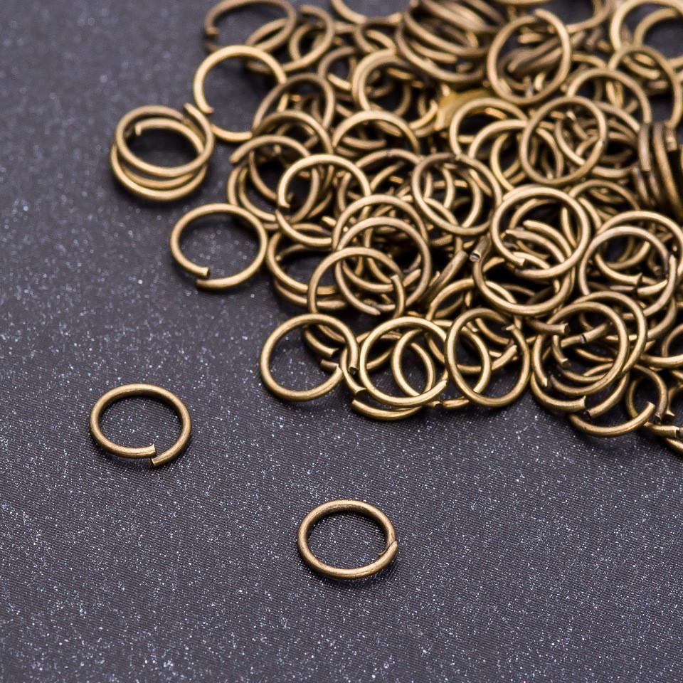 Фурнитура соединительное кольцо d-6,5mm пачка 30 грамм цвет бронза
