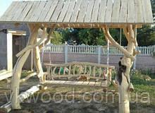 Гойдалка з дерева  «Дика» Деревянная качель  «Дикая»