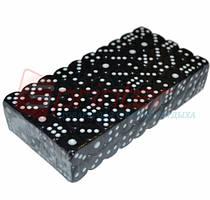 Кубик игральный черный. В упаковке 100 шт. №12