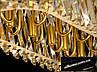 Кришталева люстра овальної форми для вітальні, фото 3