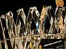 Кришталева люстра овальної форми для вітальні, фото 5