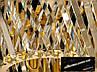 Кришталева люстра овальної форми для вітальні, фото 6