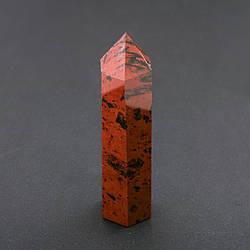 """Кристалл многогранник """"карандаш"""" сувенир натуральный камень Красная Яшма ассорти (цена за 100 грамм)"""