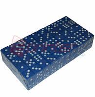 Кубик игральный синий. В упаковке 100 шт. №15