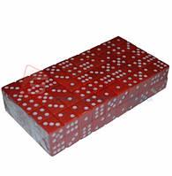Кубик игральный красный. В упаковке 100 шт. №15