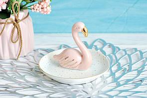 """Блюдце для украшений """"Фламинго"""" 9×10см"""