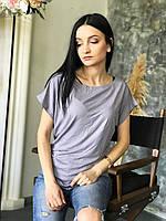 Футболка женская Leliss размер 44-46 серая