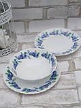 Тарілка закусочна із склокераміки декорована чорницею, діаметр 19 см(продаж лише упаковками, 6шт/уп), фото 5