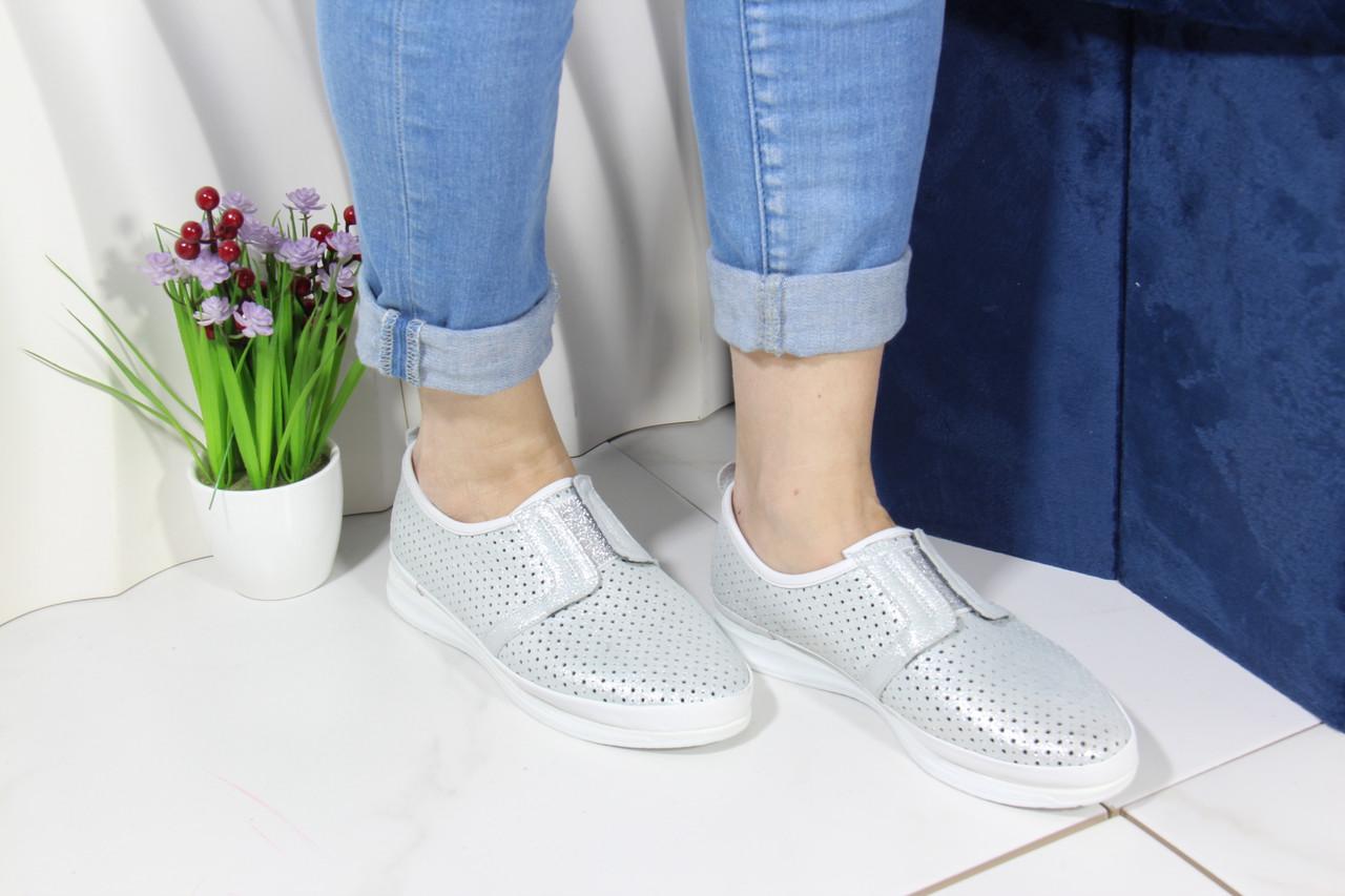 Стильні білі мокасини Aras Shoes K6L-14222-WHITE