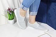 Стильні білі мокасини Aras Shoes K6L-14222-WHITE, фото 2