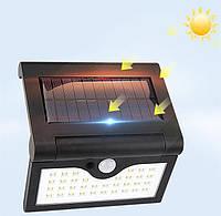 Настенный уличный светильник SH-090A-34SMD, 1x18650, PIR+CDS, солнечная батарея, Настінний вуличний світильник SH-090A-34SMD, 1x18650, PIR+CDS,