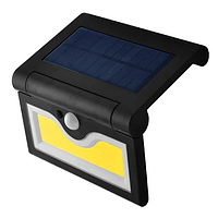 Настенный уличный светильник SH-090B-COB, 1x18650, PIR+CDS с датчиком движения, солнечная батарея, Настінний вуличний світильник SH-090B-COB, 1x18650,