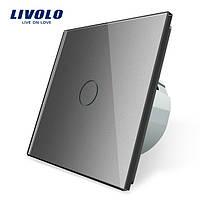 Сенсорный выключатель освещения LIVOLO VL-C701, один канал, Серый