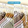 Универсальная складная вешалка для одежды Wonder Hanger органайзер в шкаф 8шт в наборе белый, фото 3