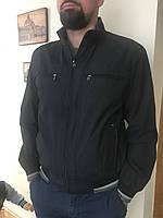 Мужская летняя куртка ветровка парка тонкая весенняя Катон короткая на резинке черная