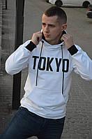 Мужская кофта-кенгуру. Спортивная кофта с капюшоном. TOKYO
