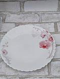 Тарілка закусочна із склокераміки декорована орхідеєю, діаметр 19 см(продаж лише упаковками, 6шт/уп), фото 6