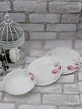 Тарілка закусочна із склокераміки декорована орхідеєю, діаметр 19 см(продаж лише упаковками, 6шт/уп), фото 5
