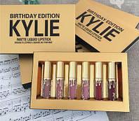 Набор жидких матовых помад Кайли Дженнер Kylie Jenner 6 оттенков, Помада матовая ave