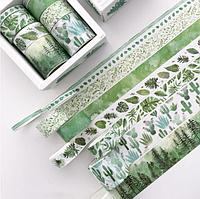Скотч цветной декоративный На природе Santtiwodo набор 8 шт