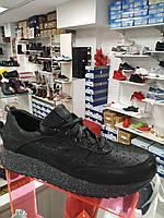 Черные кроссовки женские, подростковые (для девочки) с перфорацией (лето/весна), фото 1